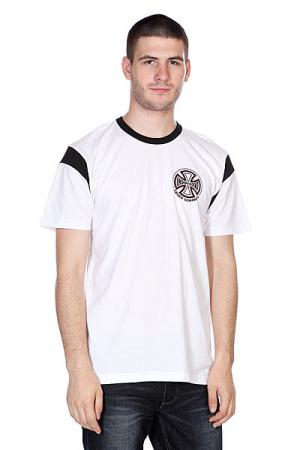 Футболка  Classic T/C White/Black Independent. Цвет: белый,черный