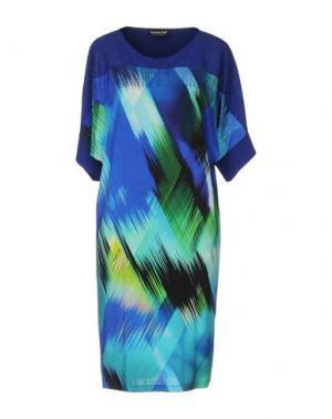 Короткое платье DANIELA DREI. Цвет: ярко-синий