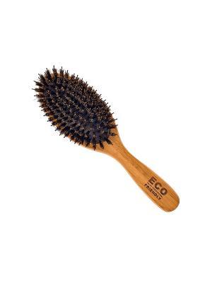 Щетка массажная Salon Professional 76210B Eco friendly, L 225 мм.. Цвет: коричневый
