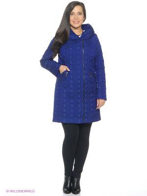 Пальто Brillare. Цвет: синий