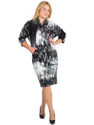 Платье Alego. Цвет: черный, серый, белый