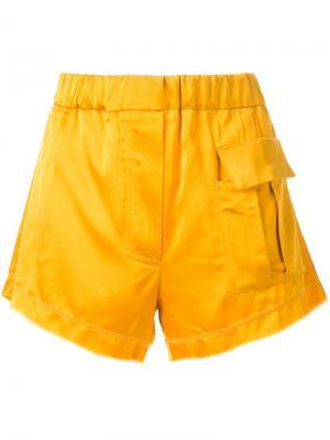 Шорты с передним карманом Manning Cartell. Цвет: жёлтый и оранжевый