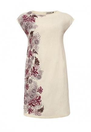 Платье Indiano Natural. Цвет: бежевый