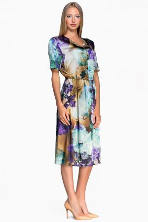 Платье из шелка 133039 Iya Yots. Цвет: разноцветный