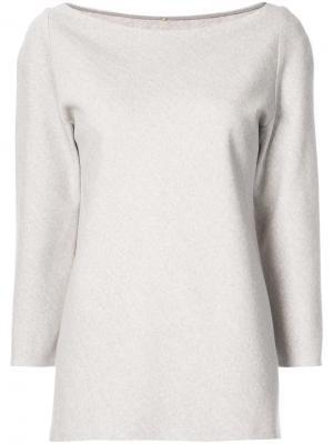 Блузка с вырезом-лодочкой Peter Cohen. Цвет: телесный