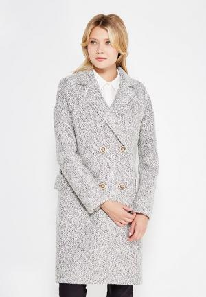 Пальто Gallalady. Цвет: серый