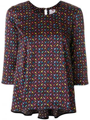 Блузка с вышивкой Ultràchic. Цвет: многоцветный