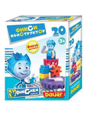 Фикси-конструктор 20 эл (Нолик) 24/24 Bauer. Цвет: голубой
