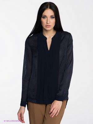 Блузка SILVIAN HEACH. Цвет: темно-синий