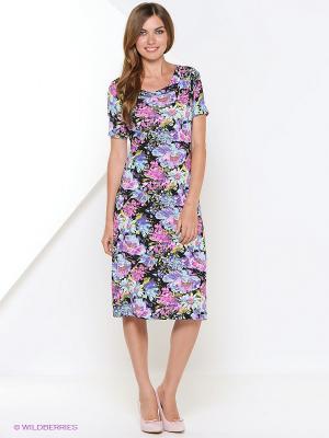 Платье Арт-Деко. Цвет: голубой, розовый