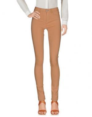 Повседневные брюки PIECES. Цвет: коричневый