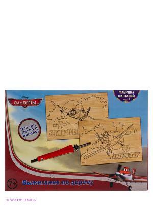 Набор для выжигания Disney Самолеты: Шкипер и Дасти Фабрика Фантазий. Цвет: голубой, красный