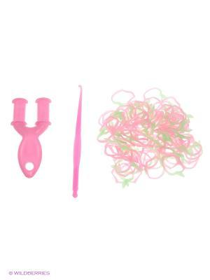 Резинки для плетения Loom Bands. Цвет: розовый, салатовый