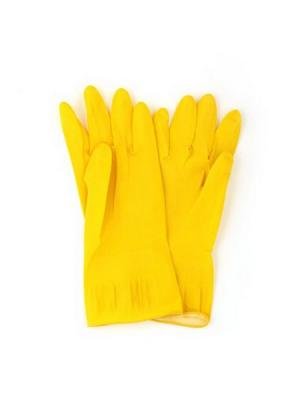Перчатки резиновые желтые Vetta. Цвет: желтый