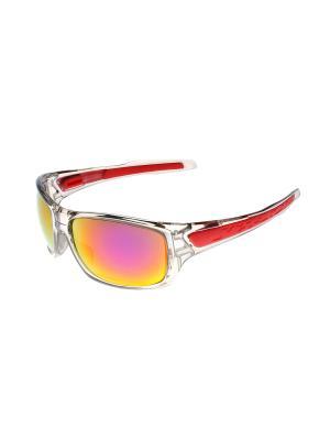 Солнцезащитные очки Gusachi. Цвет: серый, красный, розовый, желтый