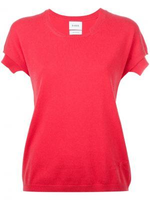 Трикотажная футболка Barrie. Цвет: розовый и фиолетовый