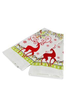 Набор Письмо Деду Морозу: 2 полотенца Русские подарки. Цвет: белый