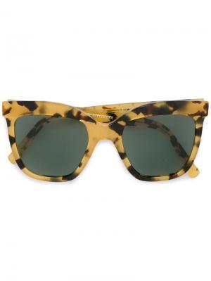 Солнцезащитные очки Le Cinqaspet Zanzan. Цвет: коричневый