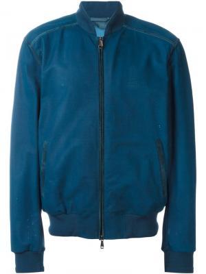 Куртка-бомбер Brioni. Цвет: синий