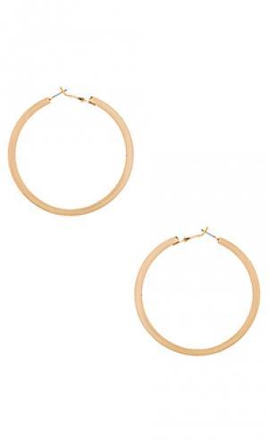 Серьги-кольца wrapped Ettika. Цвет: металлический золотой