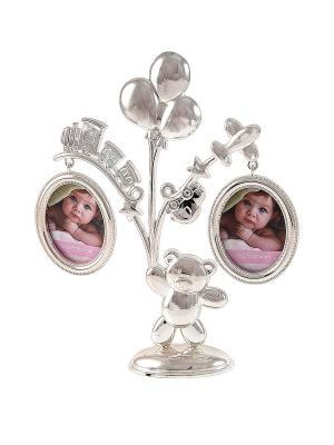 Фоторамка-дерево Детские игрушки на 2 фото Русские подарки. Цвет: серебристый