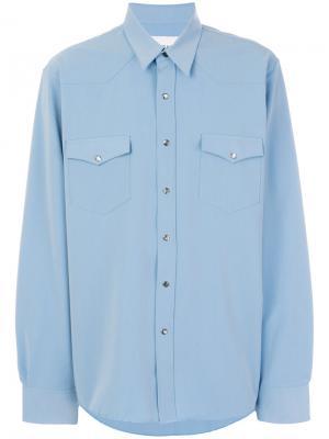 Рубашка с нагрудными карманами Our Legacy. Цвет: синий