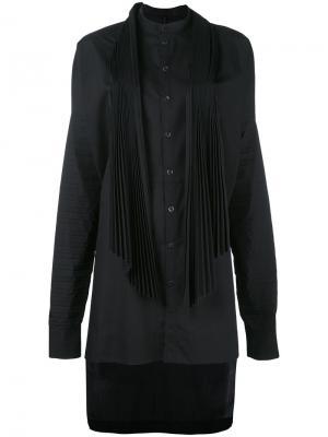 High low shirt dress Masnada. Цвет: чёрный