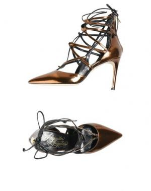 Туфли ALEJANDRO INGELMO. Цвет: бронзовый