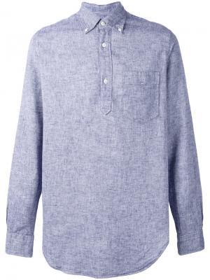 Рубашка на пуговицах Bellerose. Цвет: синий