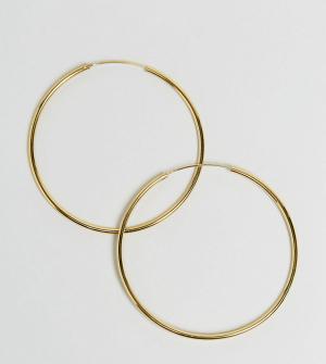 ASOS Позолоченные серебряные серьги‑кольца 60 мм. Цвет: золотой