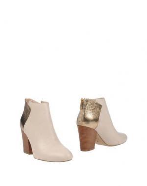 Полусапоги и высокие ботинки LORENZO MARI. Цвет: слоновая кость