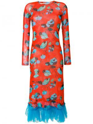 Платье Myra Molly Goddard. Цвет: многоцветный