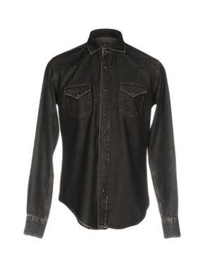 Джинсовая рубашка ELEVENTY. Цвет: черный