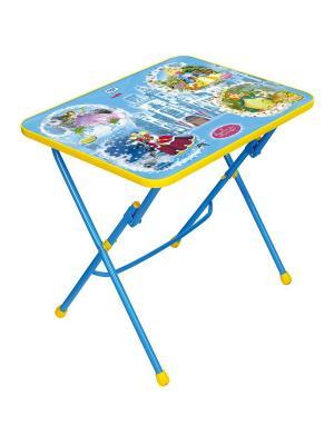 Стол (складной), детский, с рисунком Nika. Цвет: синий, голубой, розовый