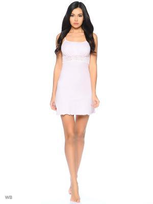 Сорочка ночная Elli Dolli. Цвет: бледно-розовый