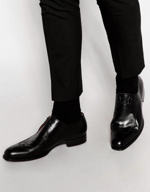 Rolando Sturlini Кожаные туфли дерби. Цвет: черный