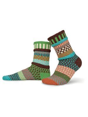 Носки solmate socks. Цвет: оливковый, светло-голубой, светло-коричневый