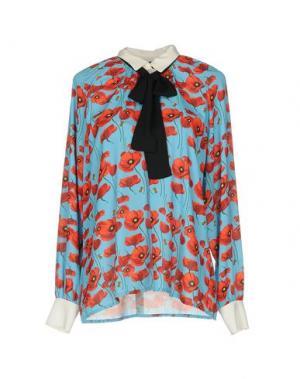 Блузка TRY ME. Цвет: лазурный