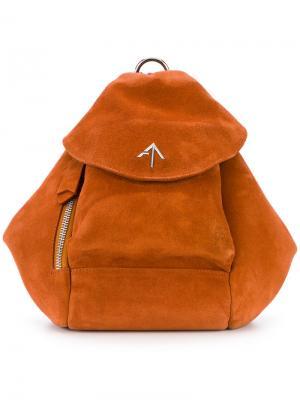 Мини рюкзак Manu Atelier. Цвет: жёлтый и оранжевый