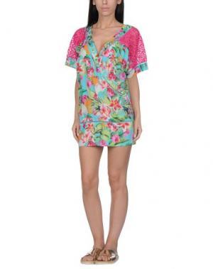 Пляжное платье VDP BEACH. Цвет: фуксия