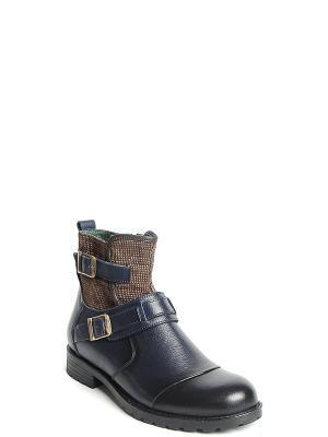 Ботинки MILANA. Цвет: синий
