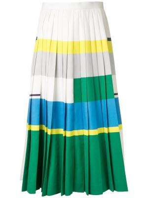 Плиссированная юбка колор-блок Enföld. Цвет: многоцветный