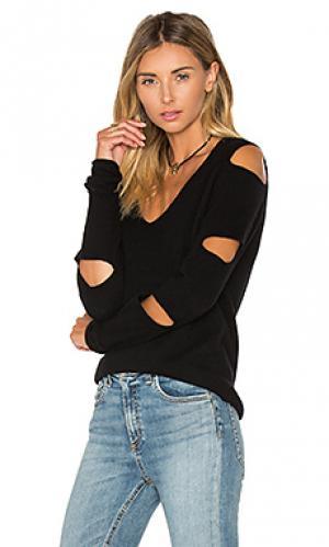 Обрезанный свитер tyrone 360CASHMERE. Цвет: черный