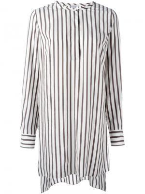 Рубашка в полоску Brunello Cucinelli. Цвет: коричневый