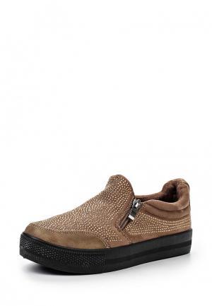 Слипоны Sweet Shoes. Цвет: коричневый