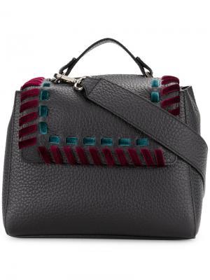 Shoulder bag with velvet stitch Orciani. Цвет: чёрный