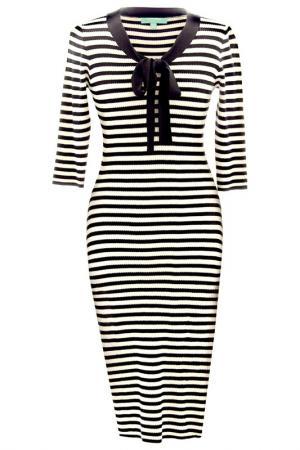 Платье FEVER LONDON. Цвет: black, cream