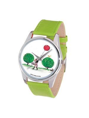 Часы Mitya Veselkov Праздничный день. Цвет: зеленый