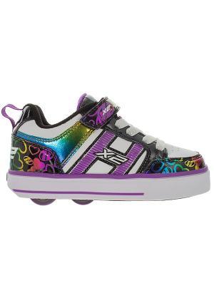Роликовые кроссовки Heelys Bolt Plus X2 770571 (1). Цвет: белый, фиолетовый