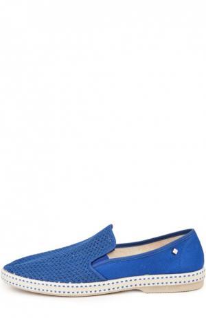 Текстильные эспадрильи Rivieras Leisure Shoes. Цвет: синий